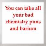 chiste de la química impresiones