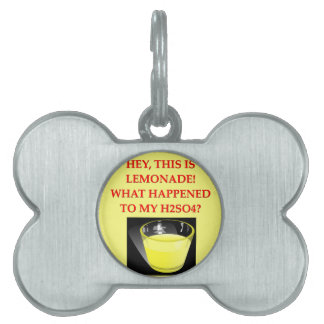 chiste de la química placa de mascota