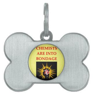 chiste de la química placa mascota