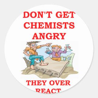 chiste de la química pegatinas redondas