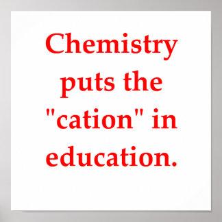 chiste de la química póster