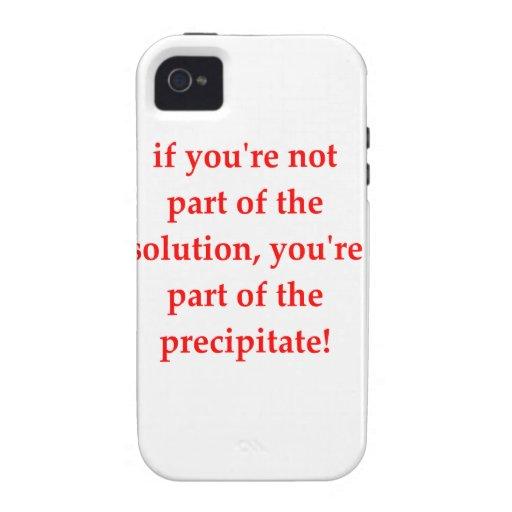 chiste de la química vibe iPhone 4 carcasa