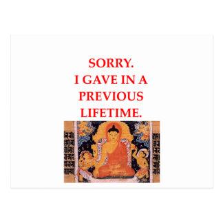 chiste de la reencarnación tarjeta postal