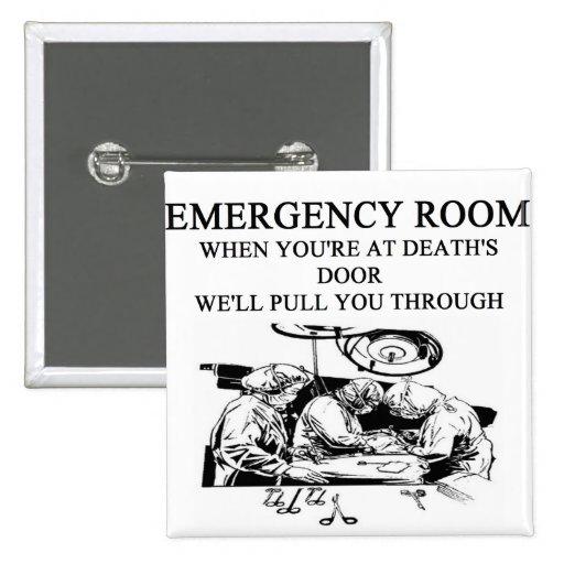 chiste de la sala de urgencias pin cuadrada 5 cm