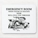 chiste de la sala de urgencias alfombrilla de ratón