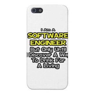 Chiste de la Software Engineer. Bebida para una vi iPhone 5 Fundas