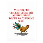 chiste de la tira de mobius tarjeta postal