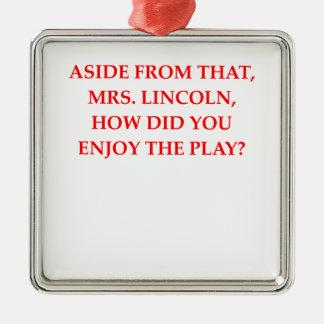 chiste de Lincoln Adorno De Navidad