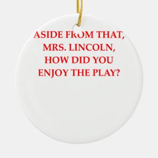 chiste de Lincoln Adornos De Navidad