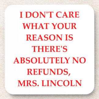 chiste de Lincoln Posavasos De Bebidas