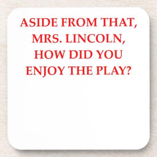 chiste de Lincoln Posavasos De Bebida