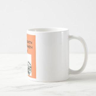 chiste de los dados tazas de café
