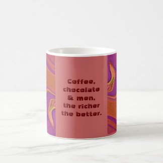 Chiste de los hombres del chocolate del café taza básica blanca