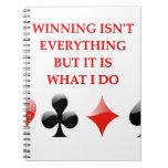 chiste de los jugadores de tarjeta libreta espiral