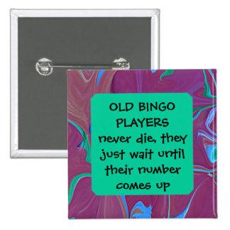 chiste de los jugadores del bingo pin