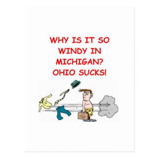 chiste de Ohio Michigan Postales