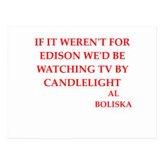 chiste de Thomas Edison Tarjetas Postales