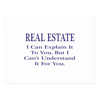 Chiste del agente inmobiliario. Explique para no Tarjetas Postales
