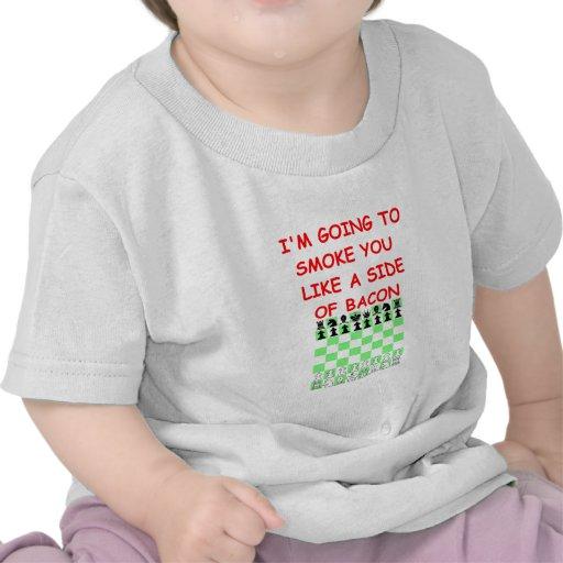 chiste del ajedrez camiseta