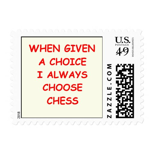 chiste del ajedrez sello