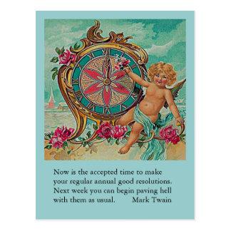 chiste del Año Nuevo de Mark Twain Postales