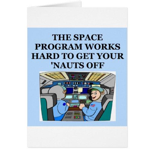 chiste del astronauta tarjetón