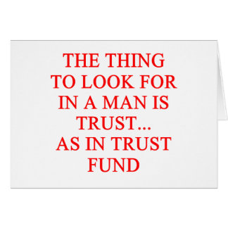 Chiste del buscador de oro de la fondo fiduciaria tarjetón