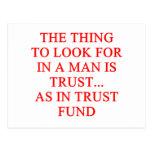 Chiste del buscador de oro de la fondo fiduciaria postal