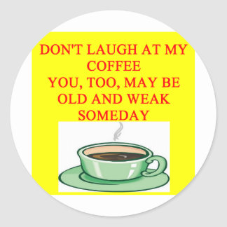 chiste del café pegatinas redondas