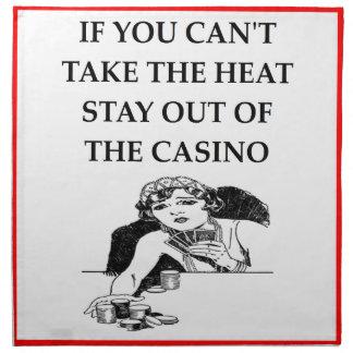 chiste del casino servilleta imprimida