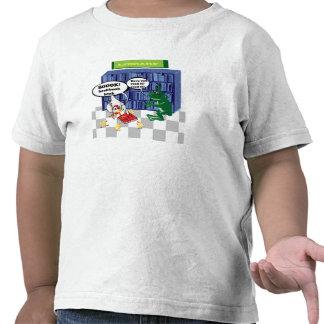 Chiste del chook del libro de la biblioteca camisetas