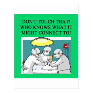 chiste del cirujano del médico del doctor tarjeta postal