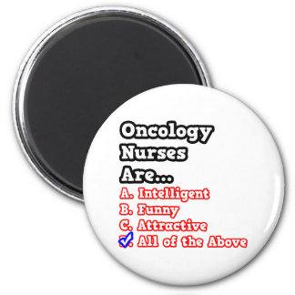 Chiste del concurso de la enfermera de la oncologí imán redondo 5 cm