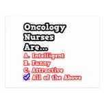 Chiste del concurso de la enfermera de la oncologí tarjeta postal