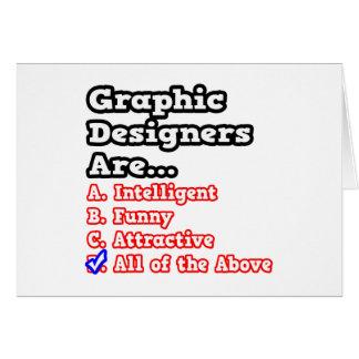 Chiste del concurso del diseñador gráfico… tarjeta de felicitación
