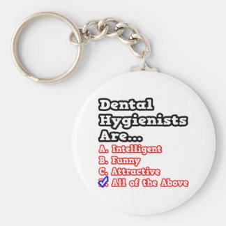Chiste del concurso del higienista dental… llavero redondo tipo pin