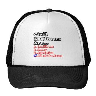 Chiste del concurso del ingeniero civil… gorras
