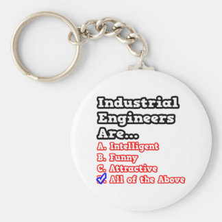 Chiste del concurso del ingeniero industrial… llavero redondo tipo pin