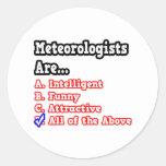 Chiste del concurso del meteorólogo… pegatina redonda