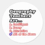 Chiste del concurso del profesor de la geografía… pegatina