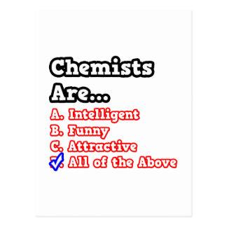 Chiste del concurso del químico… postal