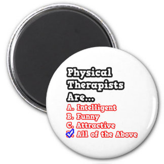 Chiste del concurso del terapeuta físico… imán redondo 5 cm