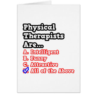 Chiste del concurso del terapeuta físico… tarjeta