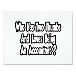 """Chiste del contable… dos pulgares invitación 4.25"""" x 5.5"""""""