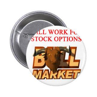 Chiste del cramer del mercado de ACCIÓN Pins
