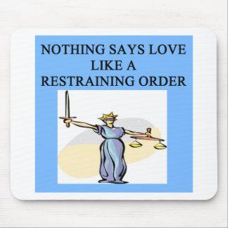 chiste del divorcio del amor alfombrilla de raton