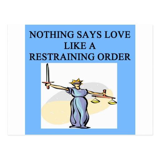 chiste del divorcio del amor tarjetas postales