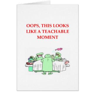 chiste del doctor tarjeta de felicitación