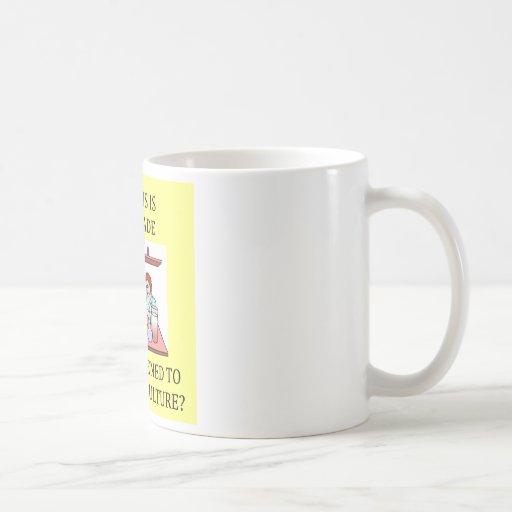 chiste del experimento de la biología tazas de café