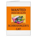 chiste del gato de los schrodinger felicitación